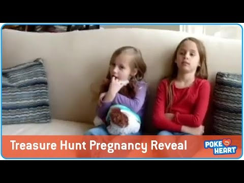 What a Reveal! Little Girls Find Out About Pregnancy Through Treasure Hunt!
