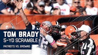 Tom Brady Makes Huge Third Down Scramble, Celebrates like Usain Bolt | Patriots vs. Browns | NFL by NFL