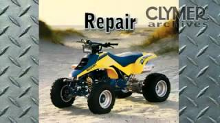 6. Clymer Manuals Suzuki Quad Racer LT250R ATV Four 4 Wheeler Manual