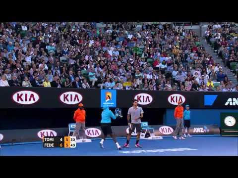 Federer Amazing Backhand