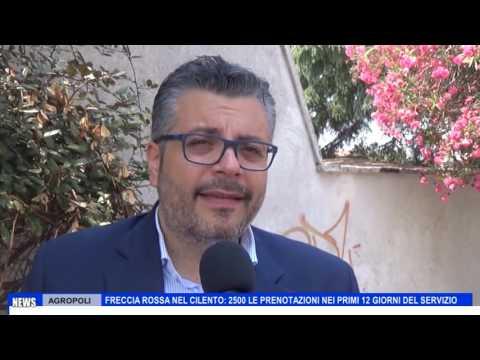 """AGROPOLI: FRECCIA ROSSA, COPPOLA : """"2500 LE PRENOTAZIONI NEI PRIMI 12 GIORNI DEL SERVIZIO"""""""