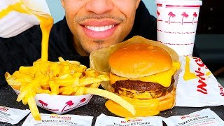 ASMR IN-N-OUT BURGER MUKBANG | ANIMAL STYLE FRIES & DOUBLE DOUBLE CHEESE CHALLENGE | NO TALKING