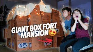 Video GIANT BOX FORT MANSION!! | Ranz and Niana MP3, 3GP, MP4, WEBM, AVI, FLV Desember 2018