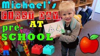 Michael's First Day of Preschool