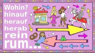 Deutsch lernen: hin und her + Präpositionen - gesprochene + g...