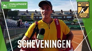 Stefanos Tsitsipas looks back on his opener at ATP Challenger Tour event in Scheveningen and discusses his affinity for tournaments in The Netherlands.