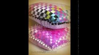 Плетение и вышивка лентами (подушки)