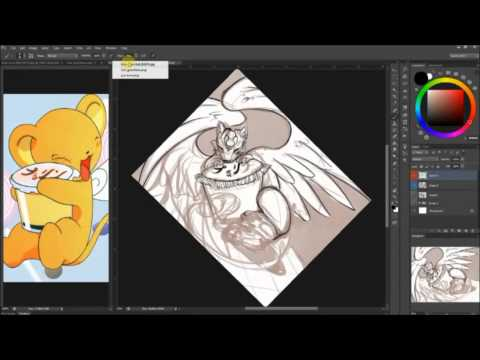 How to Art 017 -  Kero Fanart -  Refined Sketches