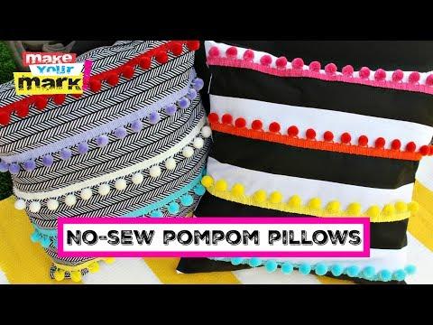 No-Sew Pompom Pillows