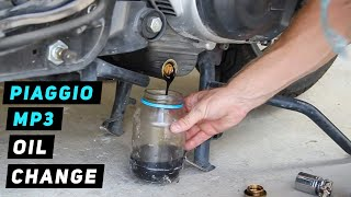 8. Piaggio MP3 - Oil Change
