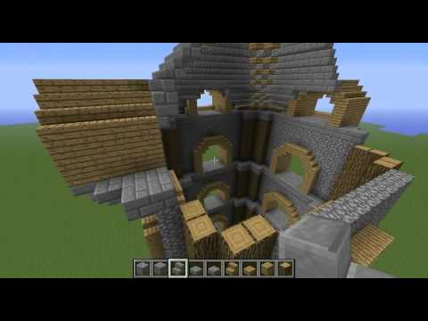 Minecraft Let's Build - Episode 1 How to build a Medieval Watchtower or Stronghold?