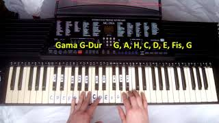 Nauka gry na pianinie, keyboardzie, fortepianie. Lekcje gry na instrumencie klawiszowym. Czytanie nut. Naucz się grać.Przebieg skal durowych i molowychRozpiska z akordami do druku: http://adf.ly/1mOgbF