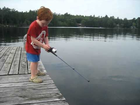 child catches fish in record time!