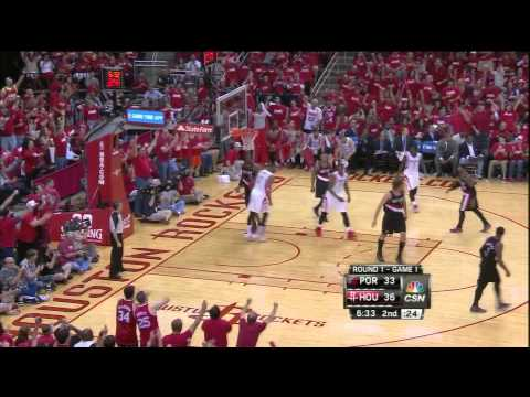 Dwight Howard alley oop dunk from Jeremy Lin vs Blazers