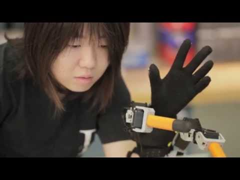 Finger - Researchers at MIT have developed a robot that enhances the grasping motion of the human hand. (Learn more: http://bit.ly/1tdPd2t) The device, worn around one's wrist, works essentially like...