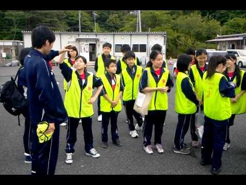 戸倉中学校仮設 東星学園中学校生徒さん来訪(2)