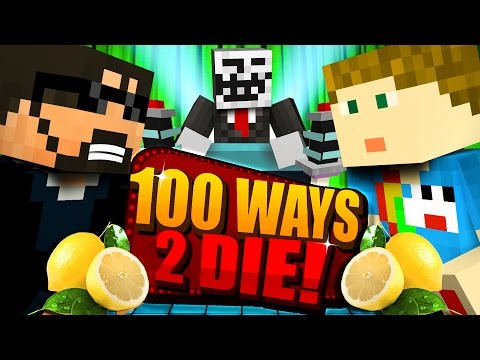 Minecraft: 100 WAYS TO DIE CHALLENGE - DRINKING LIME JUICE CHALLENGE [2] (видео)