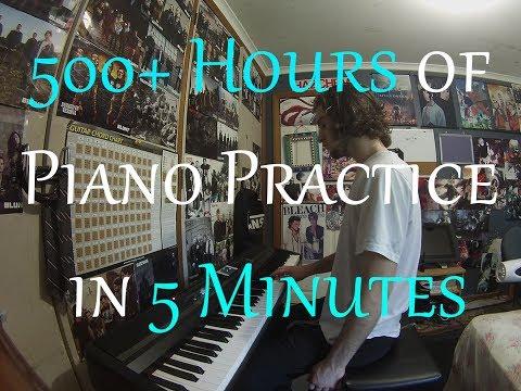 Mies opettelee soittaan pianoa – Aikaa meni noin 500 tuntia