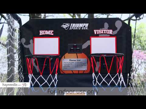 Triumph Sports 8-in-1 Arcade 2 Player Basketball Game - Product Review Video