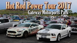 "This is a little video of the Gateway Motorsports Park stop of the 2017 Hot Rod Power Tour.  Despite having rain showers off and on, everybody really had a great time.  It was cool seeing some of the Roadkill cars, like General Mayhem, the Muscle Truck, and Lucky Costa's ""Chevhell"".  Our friends from Manns Restoration brought out their 1966 Impala convertible to show.  It's powered by a Don Hardy LS3 6.2 liter based engine, backed by a 4L65e automatic.  It's also equipped with Wilwood disc brakes all the way around.  People really seemed to like the combination of the stock appearance, along with upgraded performance.  We hope you like the video, thanks for watching!Filmed at Gateway Motorsports Park, just outside of St. Louis, MO.The background track is ""Drinkin' Gasoline"", by The Baboons.  This video is not monetized, nor do we claim any rights to the music.The background track during the photo section is ""Succotash"", by Silent Partner.  It's from the YouTube creator audio library."