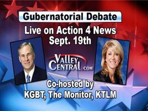 debate - Action 4 News is providing a LIVE VIDEO stream of the debate between Texas gubernatorial candidates Wendy Davis and Greg Abbott. For more information head to our website: http://www.valleycentral...