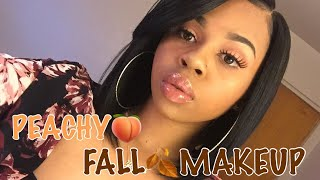 Peachy Fall Makeup Tutorial | CrySTYLE Beauty
