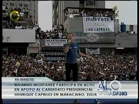 ... canta en el cierre de campaña de Capriles Radonski en el Zulia