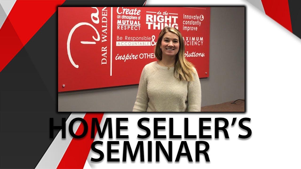 Home Seller's Seminar Reminder
