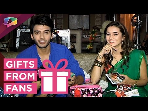 Vikram Singh Chauhan and Shivani Surve receive gif