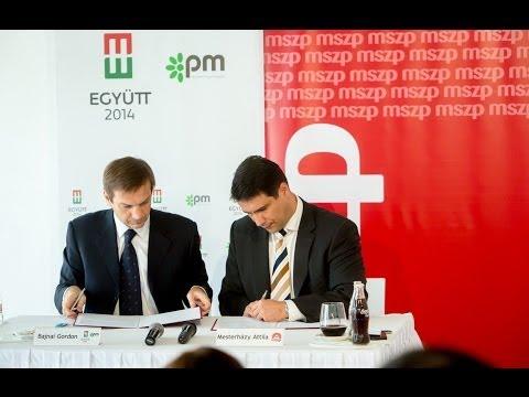 Aláírta a választási megállapodást az MSZP és az Együtt-PM vezetője