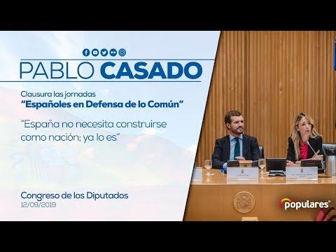 """Pablo Casado, clausura las jornadas """"Españoles en ..."""
