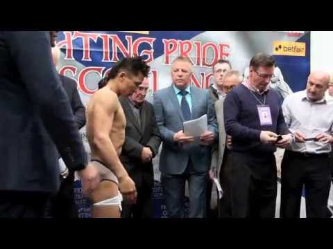 choi - JOHN SIMPSON v CHOI TSEVEENPUREV - OFFICIAL WEIGH-IN / iFILM LONDON / FIGHTING PRIDE OF SCOTLAND.