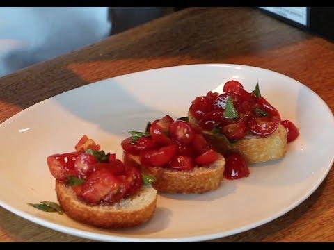 Arte com Sabor - Bruschetta de Tomate e Bruschetta de Carpaccio