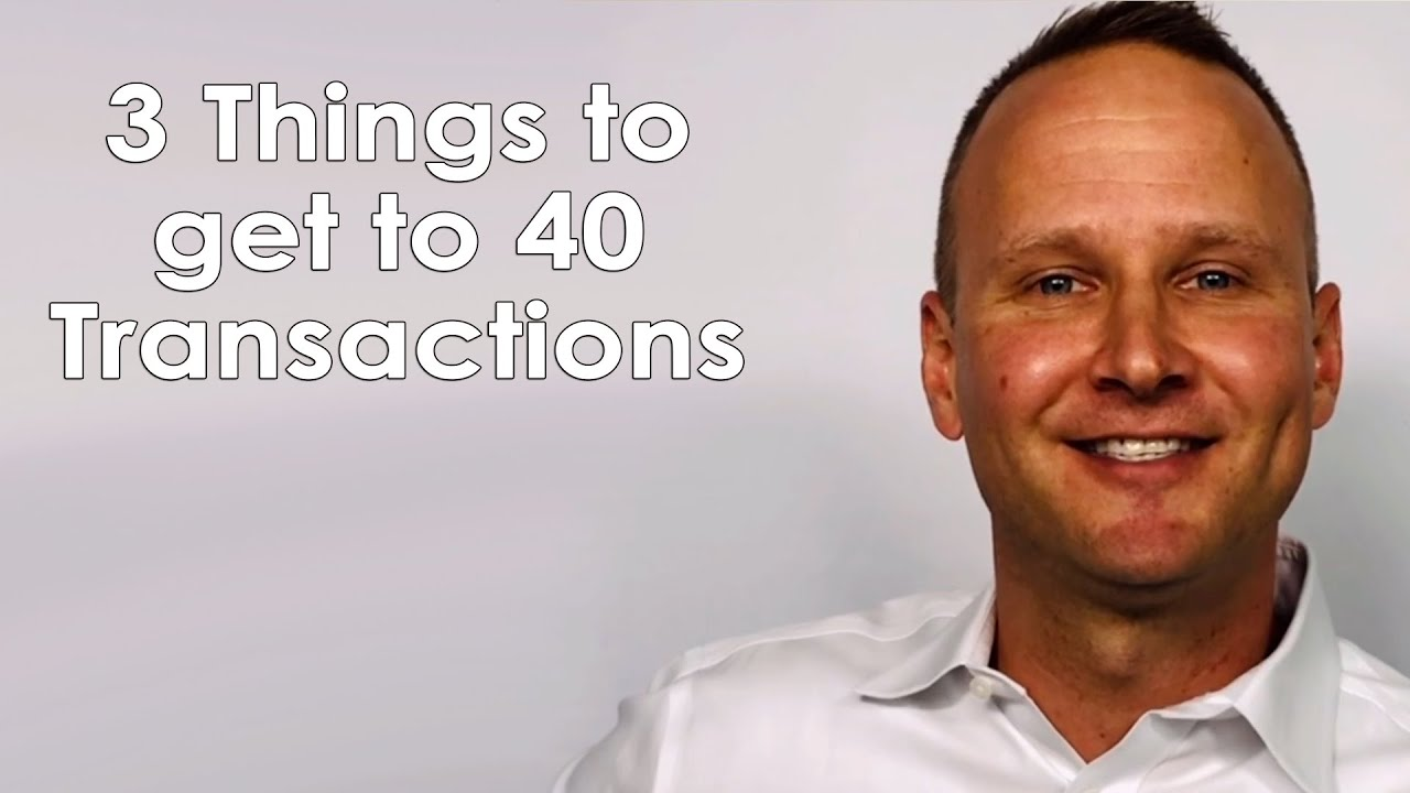 How Our Agents Do 40 Transactions per Year