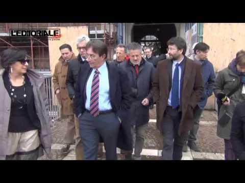 Il Ministro Franceschini in visita a L'Aquila
