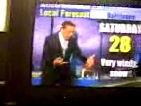 Crazy Accuweather meteorologist goes crazy