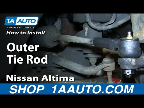 How To Install Replace Worn Outer Tie Rod 1996-01 Nissan Altima