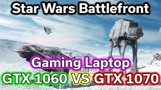 "Full Playlist of Game Tests on GTX 1060 & GTX 1070 Laptops - http://bit.ly/2s1SGKQLike my videos?  Please support me on Patreon  - http://bit.ly/29g0PUdLinks to GTX 1060 & GTX 1070 laptops & Time Stamps are Below:Suggested GTX 1060 Laptops (compare prices & specs):--- 15.6"" Models ---Acer Predator Helios 300 - @Amazon http://amzn.to/2qDXX72Acer V15 Nitro - @Amazon http://amzn.to/2oOrhKJ - @NewEgg http://bit.ly/2ryzliZASUS FX502VM - @Amazon http://amzn.to/2sdLRpj - @NewEgg http://bit.ly/2qUK7goMSI Leopard Pro - @Amazon http://amzn.to/2rRWIVb - @NewEgg http://bit.ly/2rJ5zq4--- 17.3"" Models ---Acer V17 Nitro - @Amazon http://amzn.to/2sB9tBo - @NewEgg http://bit.ly/2ryvQsJASUS GL702VM  - @Amazon http://amzn.to/2sQ3E2a - @NewEgg http://bit.ly/2se8Q3gMSI Leopard Pro - @Amazon http://amzn.to/2s1zpZV - @NewEgg http://bit.ly/2qYxSUxAcer Predator - @Amazon http://amzn.to/2rypN7C - @NewEgg http://bit.ly/2sdV5SjSuggested GTX 1070 Laptops (compare prices & specs):--- 15.6"" Models ---MSI Dominator Pro - @Amazon http://amzn.to/2s1LoXl - @NewEgg http://bit.ly/2s1whx8ASUS ROG Strix - @Amazon http://amzn.to/2s2h8vo - @NewEgg http://bit.ly/2sQdFfTAcer Predator - @Amazon http://amzn.to/2sQ5f8l - @NewEgg http://bit.ly/2rIX0vt--- 17.3"" Models ---Acer Predator - @Amazon http://amzn.to/2sB5Ew7 - @NewEgg http://bit.ly/2rJiWqnMSI Apache Pro - @Amazon http://amzn.to/2sQ6TXD - @NewEgg http://bit.ly/2sPYx2jMSI Dominator Pro - @Amazon http://amzn.to/2sQhu4G - @NewEgg http://bit.ly/2r3qMsFASUS ROG Strix - @Amazon http://amzn.to/2rJfFr7 - http://bit.ly/2qYyQ37Please note the above laptops will go in and out of stock, prices also change, so what the ""best deal"" of the week is will change from time to time.  Before investing over a thousand dollars in a gaming laptop, I suggest you pick your screen size and GPU first, then check all the listed models at both sites for the best price/features.--- Time Stamps ---0:00 - Intro1:47 - GTX 10608:33 - GTX 107020:30 - ResultsBuy Star Wars Battlefront @ Amazon - http://amzn.to/2fRfzcQ --- @ Kinguin - http://bit.ly/28X1NS3 --- @ G2A - http://bit.ly/2fZ6CMn------------------------------------------- --- Computer Deals in the US ---Amazon.com - http://amzn.to/2b4teIpNewEgg.com - http://bit.ly/29wXbSJeBAY.com - http://ebay.to/29cBqoM --- Computer Deals Outside of the US ---Amazon.ca - http://amzn.to/2bdT6GjAmazon.co.uk - http://amzn.to/2bdXRvCAmazon.de - http://amzn.to/2bdSK2kAmazon.fr - http://amzn.to/2b4LMKyAmazon.es - http://amzn.to/2bdTt3v --- Discounted Digital Software & Games ---Kinguin.net - http://bit.ly/2df8Zc9G2A.com - http://bit.ly/2dt9XnY --- Other Links ---Twitch (Live Streams) - http://bit.ly/2qSPlwwBackBlaze (Online Backup) - http://bit.ly/2ceOAm4Patreon (Support Me!) - http://bit.ly/29g0PUdTwitter (Follow Me!) - http://bit.ly/2ilZIW7"