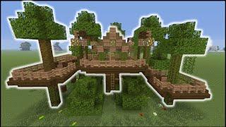 Minecraft Tutorial: How To Make A Jungle Tree House (Biome House)
