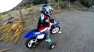 8. 2 Years old on Yamaha PW50