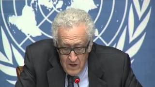 Lakhdar Brahimi,  the conclusion of the first round of intra-Syrian talks 31  01 2014