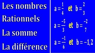 Maths 3ème - Les nombres rationnels Addition et Soustraction Exercice 14