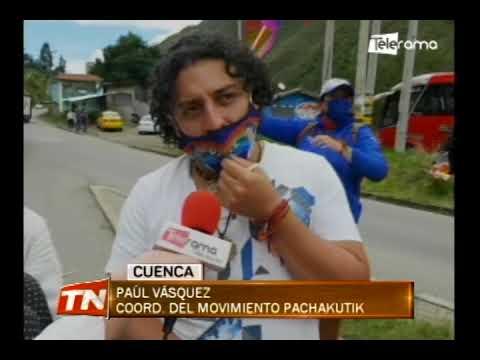 Simpatizantes de Yaku Pérez cierran vías en Azuay