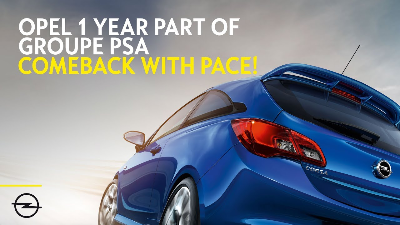 Strong comeback: Opel celebrates 1 Year as part of Groupe PSA