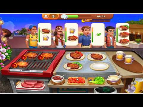Cooking Madness  -  A Chef's Game Level 11 - 14 /   Facebook Gameplay