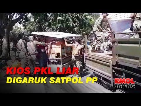 Kios PKL Liar Digaruk Satpol PP Kota Semarang
