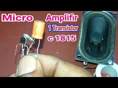 audio amplifir using 1 transistor 1815 HD
