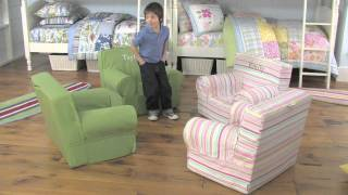 Soft seating is an important part of designing a child friendly space. In this Pottery Barn Kids video, you can learn how to create comfortable seating for your kids ...