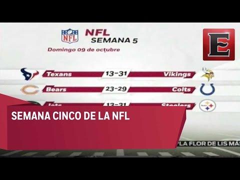 RESULTADOS DE LA SEMANA 5 DE LA NFL