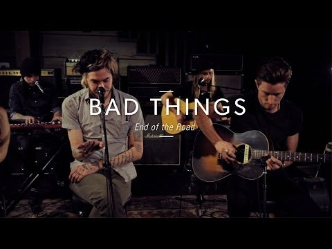 center - Bad Things sat down with our host, Nic Harcourt, for an exclusive podcast interview and played an awesome 3-song set in the Guitar Center Hollywood Vintage Room including this acoustic version...